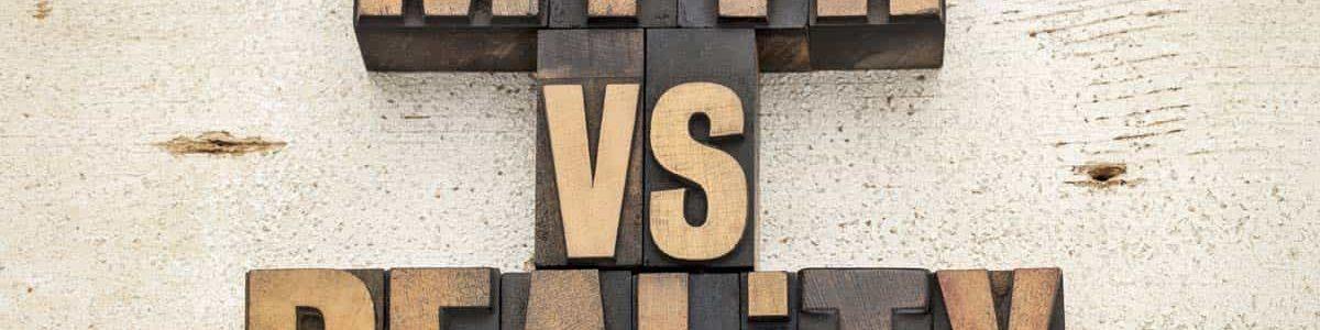 Myth vs. reality wood blocks