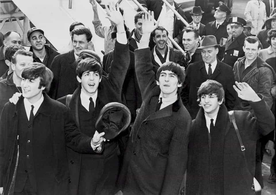 beatles black and white