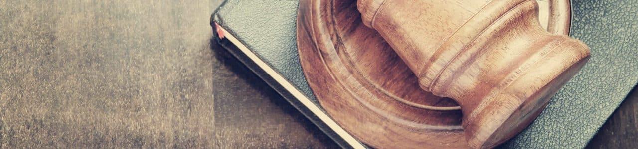 gavel on book