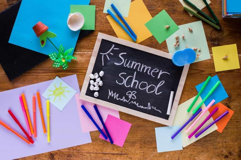 summer school chalk board