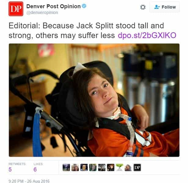 Jack Splitt died cerebral palsy