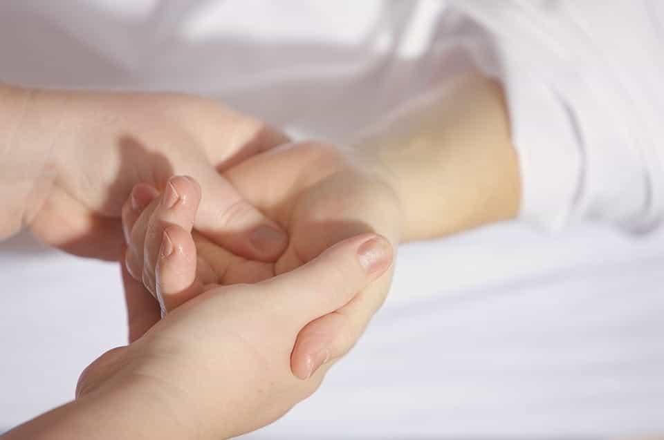 Chiropractor hands