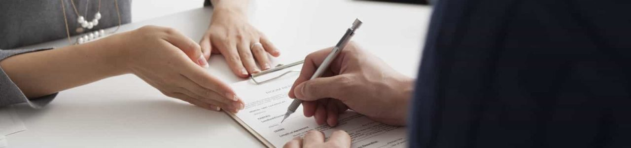 signing settlement papers