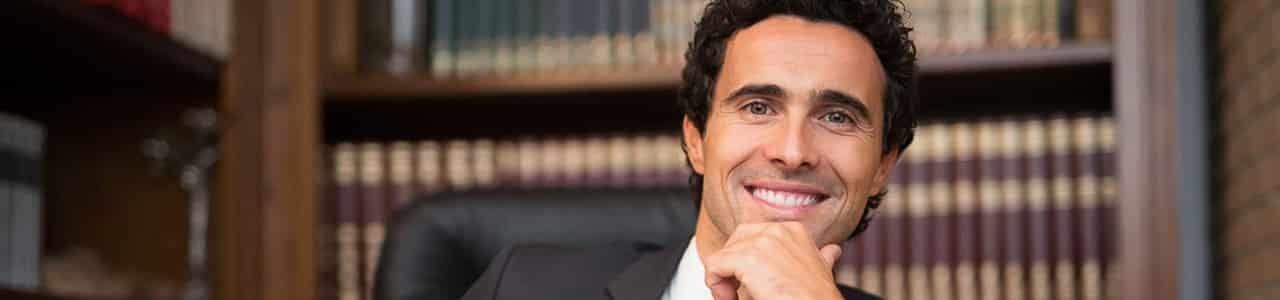 Lawyer smiling