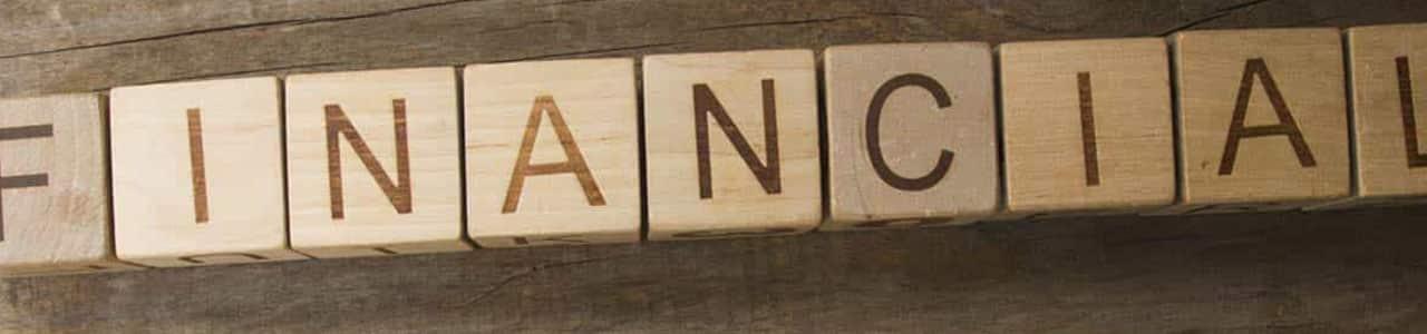 Wooden financial help sign